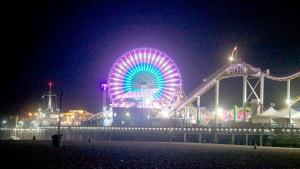 The Santa Monica Pier  at dawn